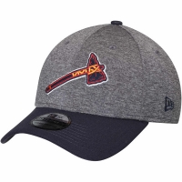 Atlanta Braves mlb new era flex heathered спортивная бейсболка серая