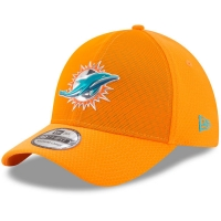 Miami Dolphins nfl new era flex color спортивная бейсболка оранжевая