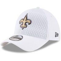 New Orleans Saints nfl new era flex color спортивная бейсболка белая