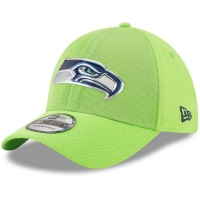 Seattle Seahawks nfl new era flex color спортивная бейсболка салатовая