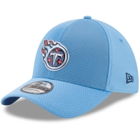 Tennessee Titans nfl new era flex color спортивная бейсболка голубая