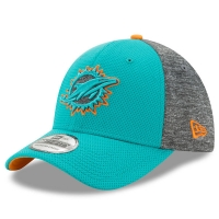 Miami Dolphins nfl new era flex fierce спортивная бейсболка голубая