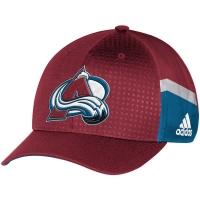 Colorado Avalanche nhl adidas flex-fit draft хоккейная бейсболка бордовая