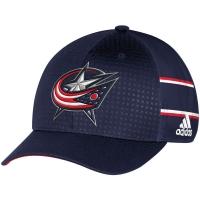 Columbus Blue Jackets nhl adidas flex-fit draft хоккейная бейсболка темно-синяя