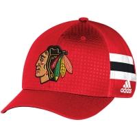 Chicago Blackhawks nhl adidas flex-fit draft хоккейная бейсболка красная