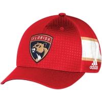 Florida Panthers nhl adidas flex-fit draft хоккейная бейсболка красная