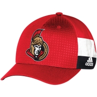 Ottawa Senators nhl adidas flex-fit draft хоккейная бейсболка красная