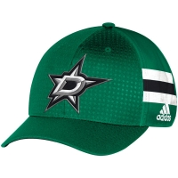 Dallas Stars nhl adidas flex-fit draft хоккейная бейсболка зеленая