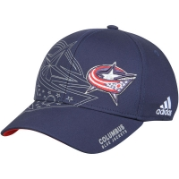 Columbus Blue Jackets nhl adidas flex-fit on-ice хоккейная бейсболка темно-синяя