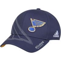 St Louis Blues nhl adidas flex-fit on ice хоккейная бейсболка темно-синяя