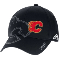 Calgary Flames nhl adidas flex-fit on-ice хоккейная бейсболка черная