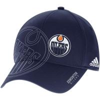 Edmonton Oilers nhl adidas flex-fit on-ice хоккейная бейсболка темно-синяя