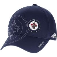 Winnipeg Jets nhl adidas flex-fit on ice хоккейная бейсболка темно-синяя
