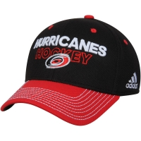Carolina Hurricanes nhl adidas flex-fit locker хоккейная бейсболка черная