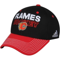 Calgary Flames nhl adidas flex-fit locker хоккейная бейсболка черная