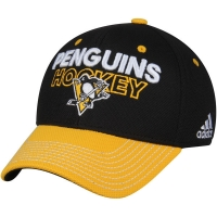 Pittsburgh Penguins nhl adidas flex-fit locker хоккейная бейсболка черная