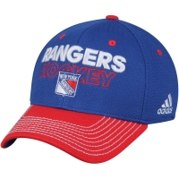 New York Rangers nhl adidas flex-fit locker хоккейная бейсболка синяя