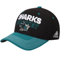 San Jose Sharks nhl adidas flex-fit locker хоккейная бейсболка черная