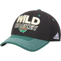 Minnesota Wild nhl adidas flex-fit locker хоккейная бейсболка черная
