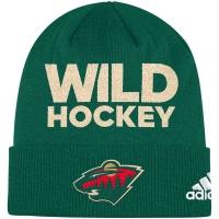 Minnesota Wild nhl adidas хоккейная шапка зеленая