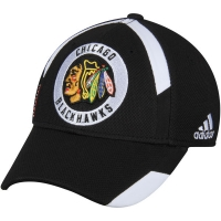 Chicago Blackhawks nhl adidas flex-fit practice хоккейная бейсболка черная