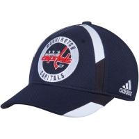 Washington Capitals nhl adidas flex-fit practice хоккейная бейсболка темно-синяя