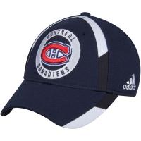 Montreal Canadiens nhl adidas flex-fit practice хоккейная бейсболка темно-синяя