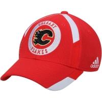 Calgary Flames nhl adidas flex-fit practice хоккейная бейсболка красная