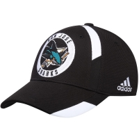 San Jose Sharks nhl adidas flex-fit practice хоккейная бейсболка черная
