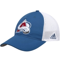 Colorado Avalanche nhl adidas flex-fit on ice хоккейная бейсболка бело-синяя