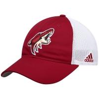 Arizona Coyotes nhl adidas flex-fit on ice хоккейная бейсболка с сеткой бело-бордовая
