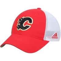 Calgary Flames nhl adidas flex-fit on ice хоккейная бейсболка с сеткой красно-белая