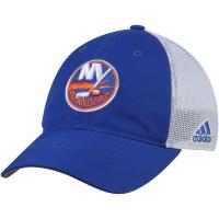 New York Islanders nhl adidas flex-fit on ice хоккейная бейсболка с сеткой бело-синяя