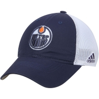 Edmonton Oilers nhl adidas flex-fit on ice хоккейная бейсболка с сеткой сине-белая