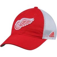 Detroit Red Wings nhl adidas flex-fit on ice хоккейная бейсболка с сеткой красно-белая