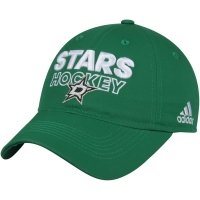 Dallas Stars nhl adidas on ice хоккейная бейсболка зеленая
