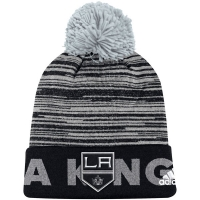 Los Angeles Kings nhl adidas хоккейная шапка с помпоном черная