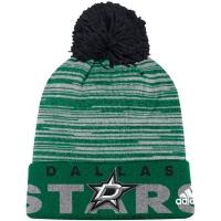 Dallas Stars nhl adidas хоккейная шапка с помпоном зеленая
