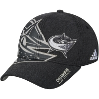 Columbus Blue Jackets nhl adidas flex-fit travel хоккейная бейсболка черная