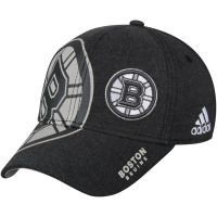 Boston Bruins nhl adidas flex-fit travel хоккейная бейсболка черная