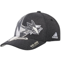 San Jose Sharks nhl adidas flex-fit travel хоккейная бейсболка черная