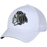 Chicago Blackhawks nhl adidas flex-fit tonal хоккейная бейсболка белая