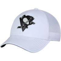 Pittsburgh Penguins nhl adidas flex-fit tonal хоккейная бейсболка белая