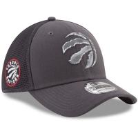 Toronto Raptors nba new era flex-fit on-court спортивная бейсболка серая