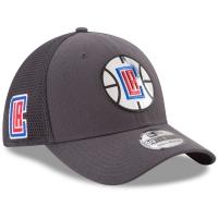 LA Clippers nba new era flex-fit on-court спортивная бейсболка серая