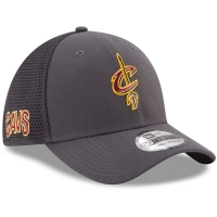 Cleveland Cavaliers nba new era flex-fit on-court спортивная бейсболка серая