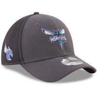 Charlotte Hornets nba new era flex-fit on-court спортивная бейсболка серая