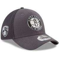Brooklyn Nets nba new era flex-fit on-court спортивная бейсболка серая