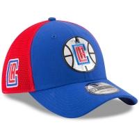 LA Clippers nba new era flex-fit on-court спортивная бейсболка красно-синяя