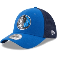 Dallas Mavericks nba new era flex-fit on-court спортивная бейсболка синяя